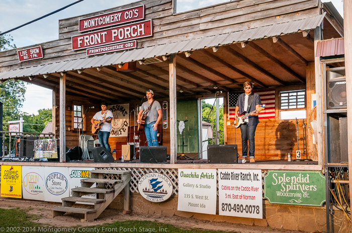Gable Bradley and brothers  Tucker and Spencer perform on the Front porch Stage.