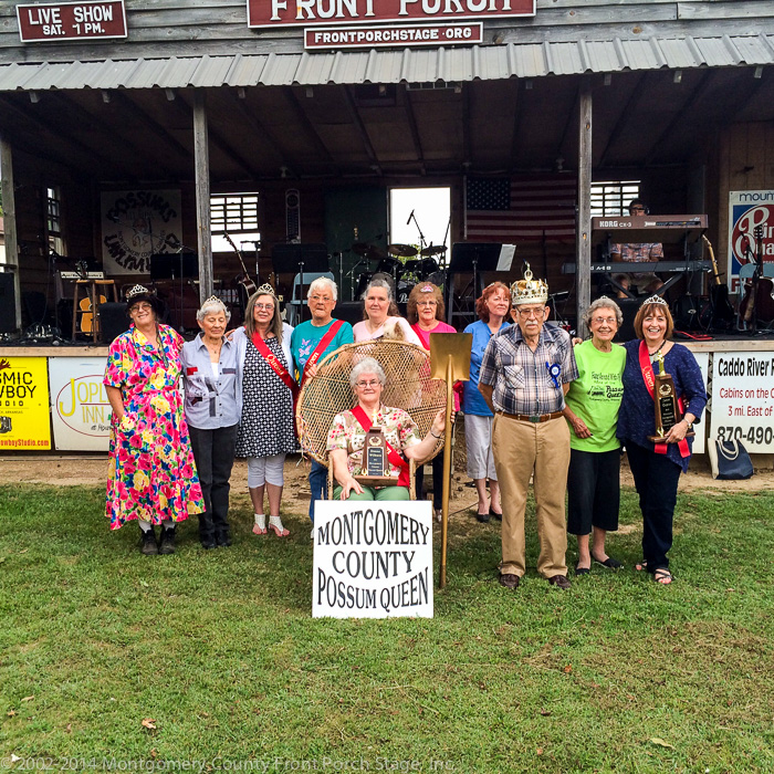 Possum Queen for 2015, Donna Wilborn, and her Court.