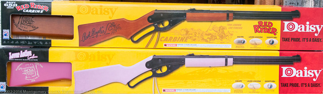 These two Front Porch Stage Special Daisy BB Guns are being raffled off. The drawing will be held Oct. 11 at our last show of the 2014 season.