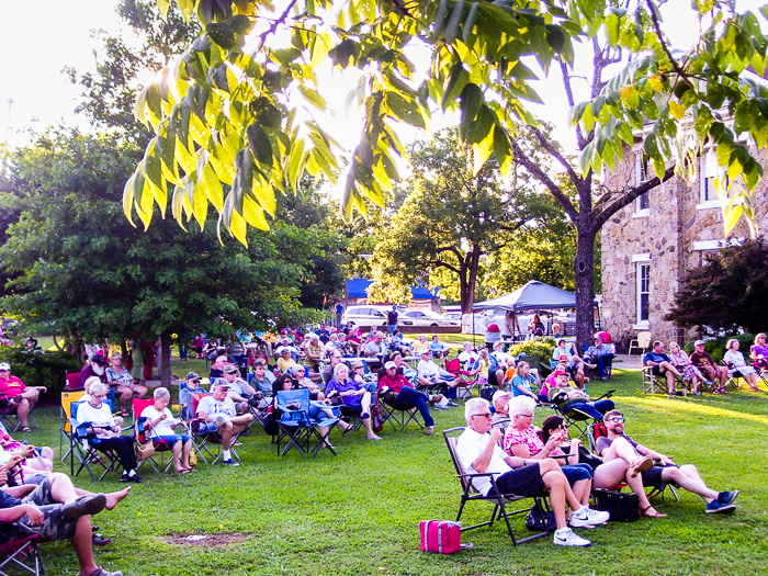 Always a good turnout for Mount Ida's own Prairie Grove Band<br />(Click on this image to view more photos from July 2, 2016)
