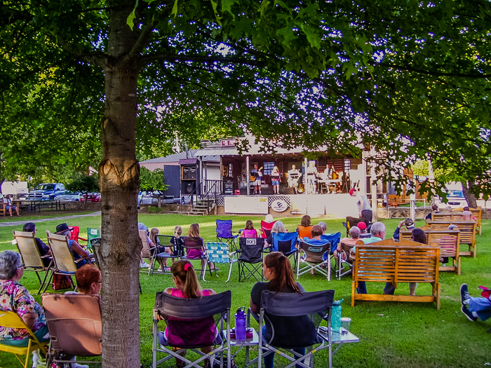 Nice shady spot for enjoying Common Ground. (Click on this image to view more photos from Common Ground, July 15, 2017.)