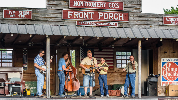The Montgomery County Front Porch Stage – \